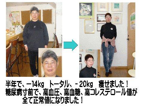 半年で-14kg、トータル-20kg痩せました!
